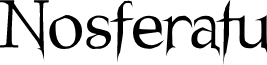 Nosferatu Regular font
