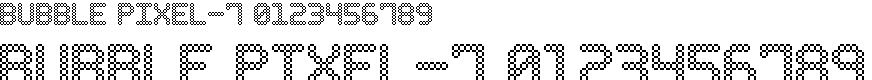 Preview image for Bubble Pixel-7 Font