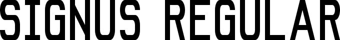 Preview image for Signus NBP Font