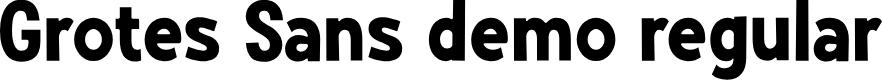 Preview image for Grotes Sans DEMO Regular