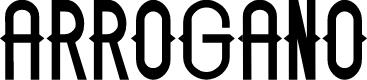 Preview image for ARROGANO Font