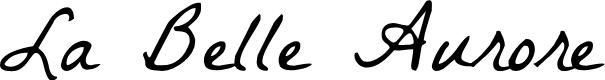 Preview image for La Belle Aurore Font