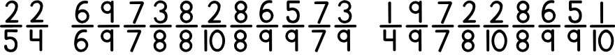 Preview image for KG Traditional Fractions Font