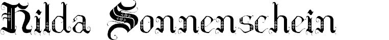 Preview image for Hilda Sonnenschein Font