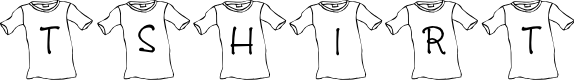 Preview image for JLR T-Shirt Font