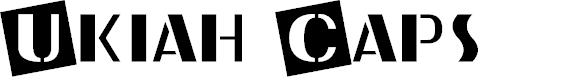 Preview image for Ukiah Caps Font