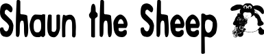 Preview image for Shaun the Sheep Font