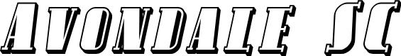 Preview image for Avondale SC Shaded Italic