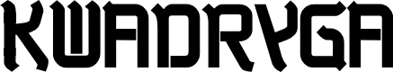 Preview image for Kwadryga Font