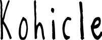 Preview image for Kohicle25 Font