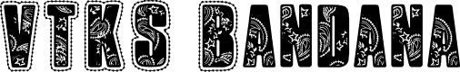 Preview image for VTKS Bandana Font