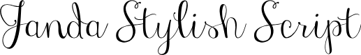 Preview image for Janda Stylish Script Font