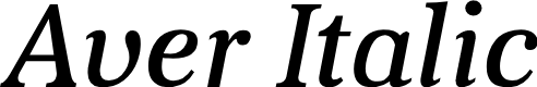Preview image for Aver Italic