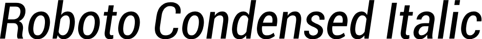 Preview image for Roboto Condensed Italic