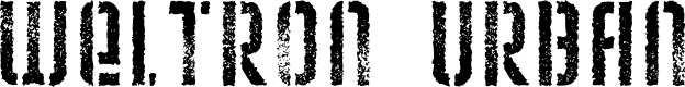 Preview image for Weltron Urban Font