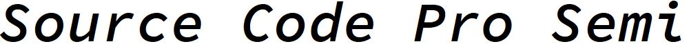 Source Code Pro Semibold Italic