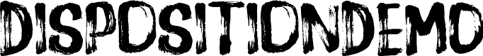 Preview image for DispositionDEMO Font