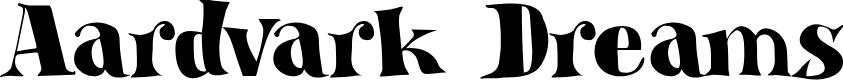Preview image for DK Aardvark Dreams Regular Font
