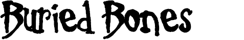 Preview image for Buried Bones Font