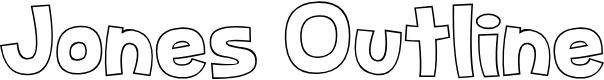 Preview image for Jones Outline Font