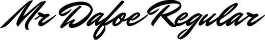 Preview image for Mr Dafoe Regular Font