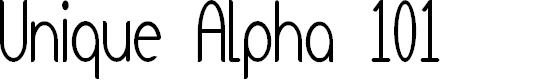 Preview image for Unique Alpha 101