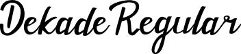 Preview image for Dekade Regular Font