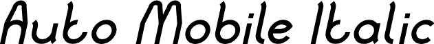Auto Mobile Italic