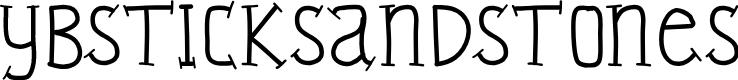 Preview image for YBSticksAndStones Font