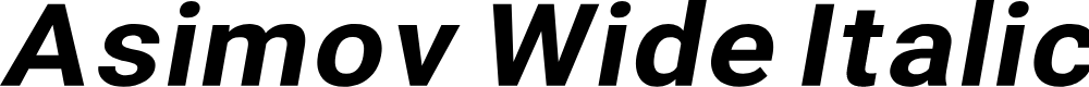 Preview image for Asimov Wide Italic