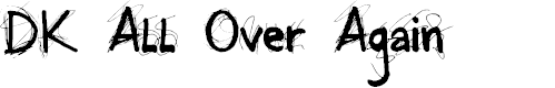 Preview image for DK All Over Again Font