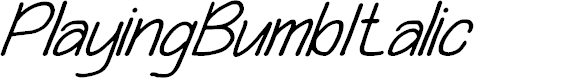 Preview image for Playing Bumb Italic