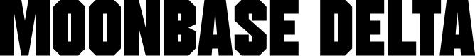 Preview image for Moonbase Delta Font