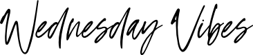 Preview image for Wednesday Vibes Font
