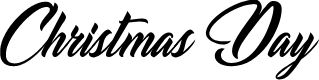 Preview image for Christmas Day Personal Use Font