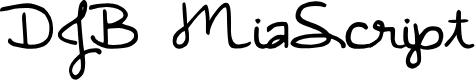 Preview image for DJB MiaScript Font
