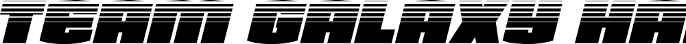 Team Galaxy Halftone Italic