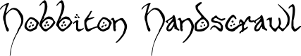 Preview image for Hobbiton Handscrawl Regular Font