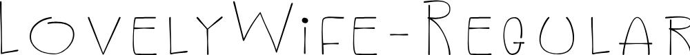 Preview image for LovelyWife-Regular Font