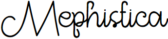 Preview image for Mephistica Font
