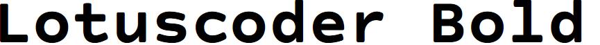 Lotuscoder Bold
