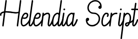 Preview image for Helendia Script Font