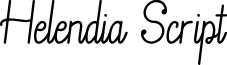Helendia Script font
