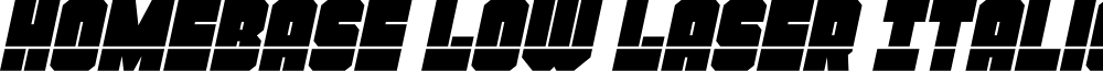Homebase Low Laser Italic