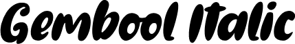 Gembool Italic