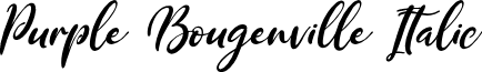 Purple Bougenville Italic