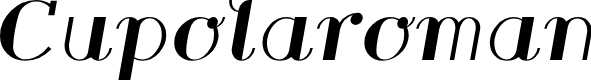 Preview image for Cupolaroman Font