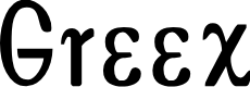 Preview image for Greex Font