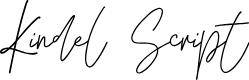 Preview image for KindelScript Font