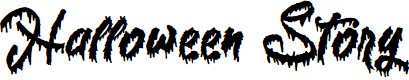 Preview image for Halloween Story Font